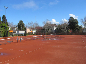 Before En Tout Cas Tennis Court Conversion