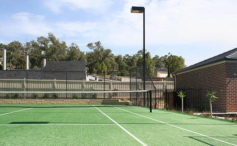 Tennis aste for Cout autoconstruction