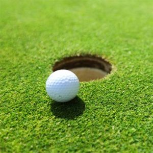 Golf Green Made From Synthetic Turf