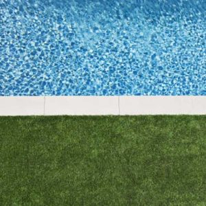 Synthetic Grass Around Pool Edges