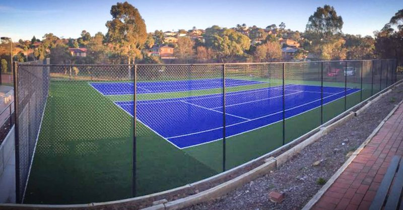 Resurfaced Tennis Court in Endeavour Hills, Melbourne
