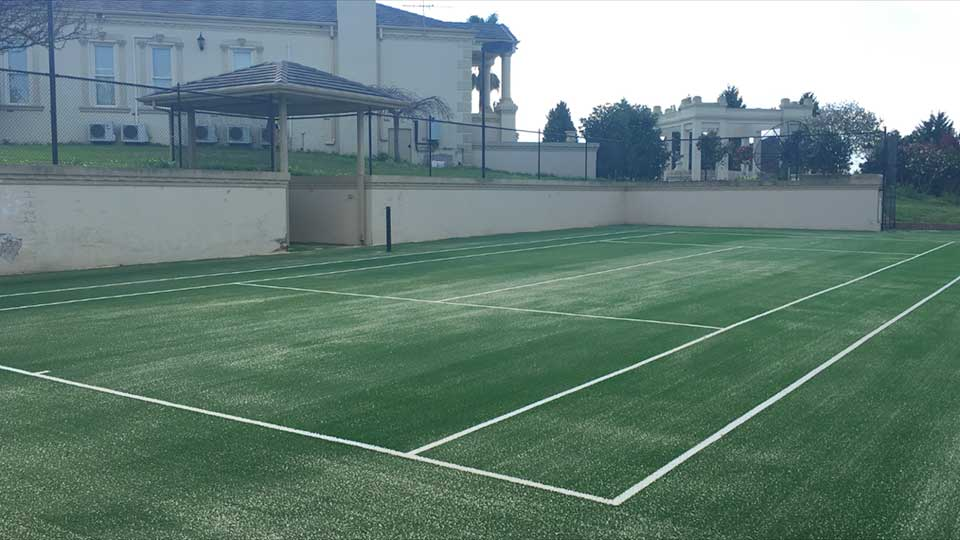 After Tennis Court Resurfacing
