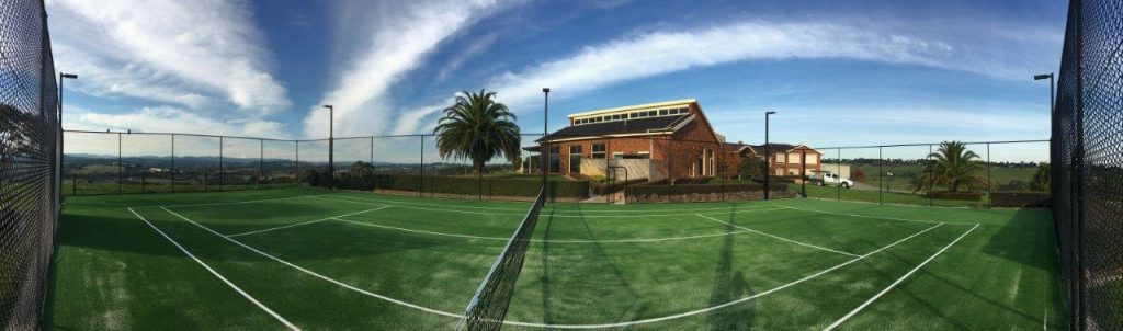 Tennis Court Fencing and Lighting