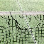 Damaged Tennis Court Net in Melbourne