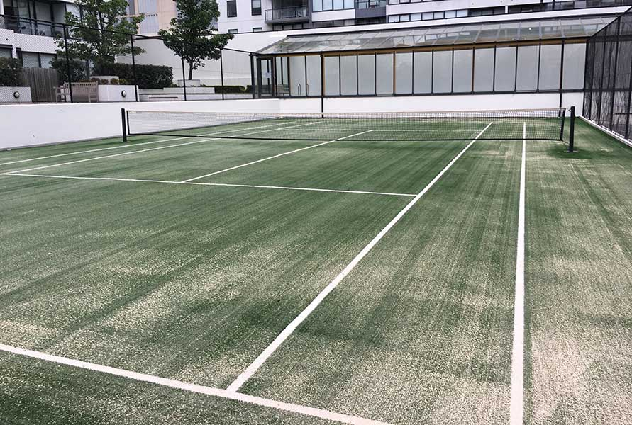 Rooftop Tennis Court Builders in Melbourne